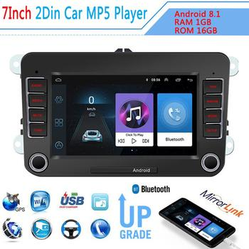 7'' Car Radio Car Multimedia Player Support GPS Navigation Autoradio 2 din Stereo Video MP5 For Volkswagen image