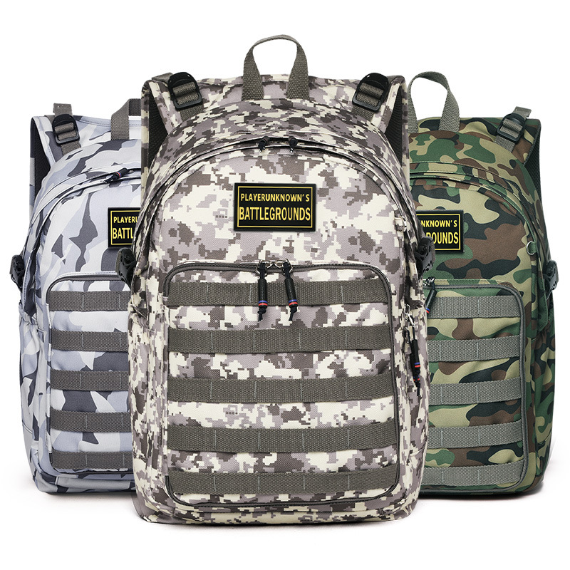 Yangguang8dian Jedi Survival Level Three Bag Eats Chicken 3 Class Backpack Men's Backpack School Bag Young STUDENT'S New Style C
