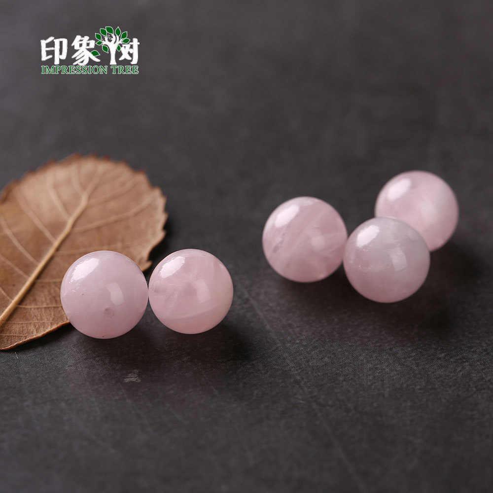 1 stücke Natürliche Edelstein Madagaskar Rosa Quarz Runde Stein Perle 5/8/10/12/14mm perlen Für Halskette Armband DIY Schmuck Zeug 2967