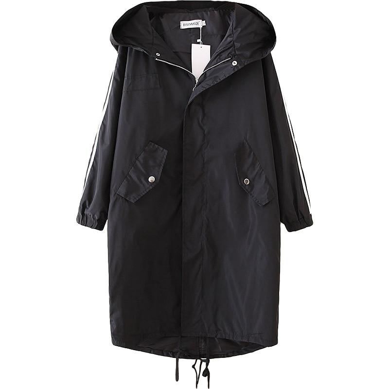 Женский весенний Тренч, женские длинные пальто, женская верхняя одежда, асимметричный подол, с капюшоном, Casaco Feminino, большие свободные S6-9608