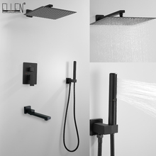 Shower-Set Mixers Bathtub Wall-Mounted Rain with Sqaure ELS89