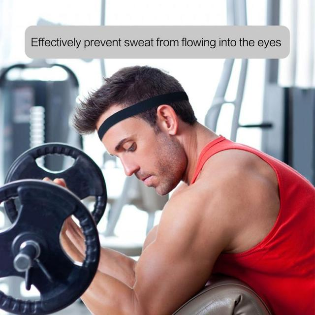 Unisex Sweat Guiding Belt Sports Gym Headband Anti-Slip Breathable Basketball Fitness Yoga Volleyball Cycling Hair Band 1