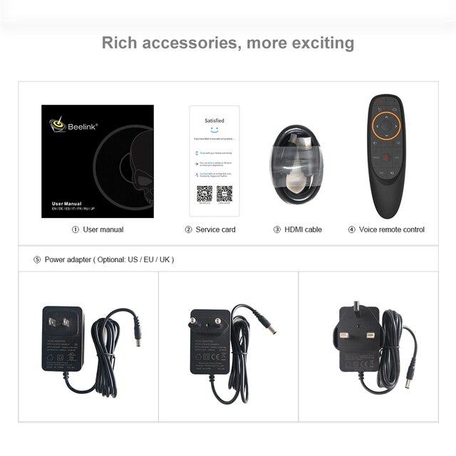 Beelink GT-Pro rey Dispositivo de Tv inteligente Amlogic S922X-H Android 9,0 4GB 64GB 2,4G 5,8G Wifi 1000M BT4.1 4K Set Top Box Media Player