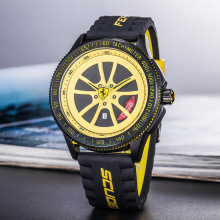 New Tire Watch Mens Quartz Sports Auto Car