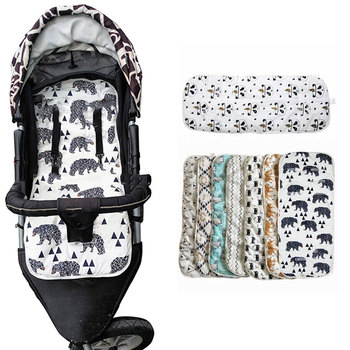 Baby Stroller Accessories Cotton Stroller Mattress Cushion Diapers Changing Nappy Pad Seat Carriages/Pram/Buggy/Car General Mat