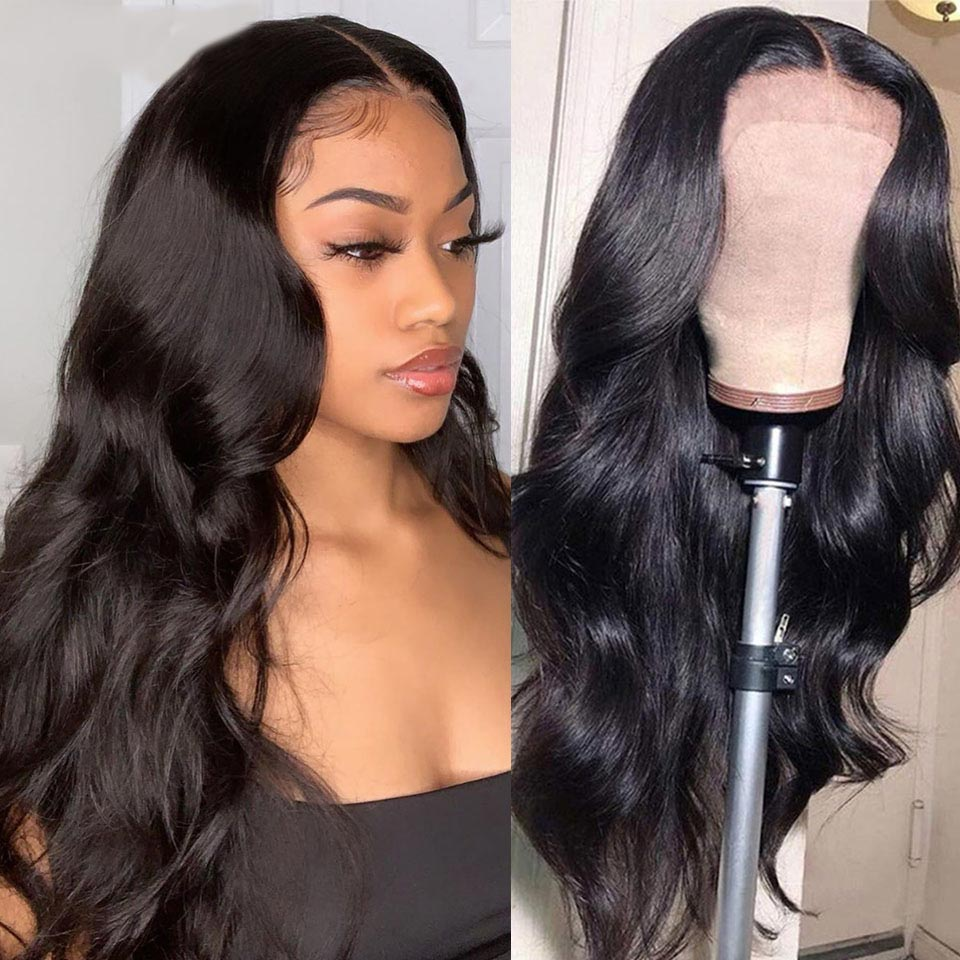 Beaudiva Hair 4x4 Closure Wig  Body Wave Wig 150 Density PrePlucked Body Wave Lace Closure  Wigs 1