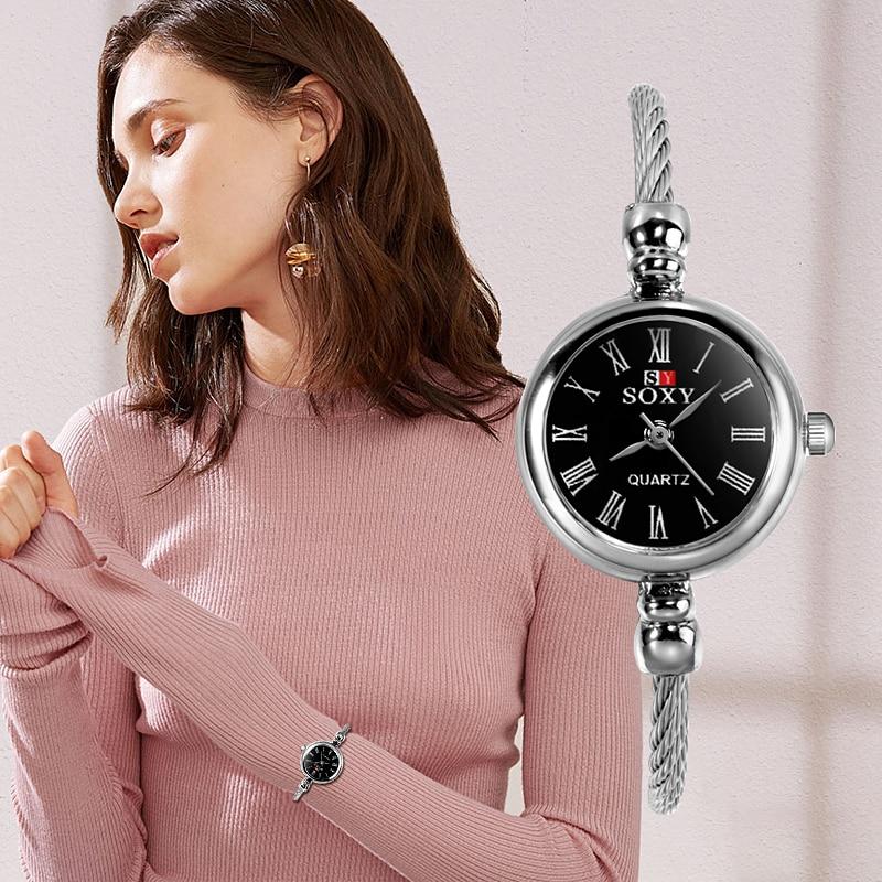SOXY роскошные женские часы кварцевые наручные часы модные римские цифры Циферблат Женские наручные часы раз reloj mujer 2019