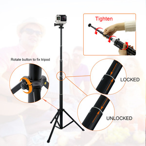 """Image 4 - Lightweight Selfie Stick Tripod Stand 51"""" Extendable Phone Mount Stand Wireless Remote For  iPhone 11 Pro XR Gopro Digtal Camera"""