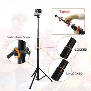 "Image 4 - קל משקל Selfie מקל חצובה Stand 51 ""להארכה טלפון הר Stand אלחוטי מרחוק עבור iPhone 11 פרו XR Gopro Digtal מצלמה"