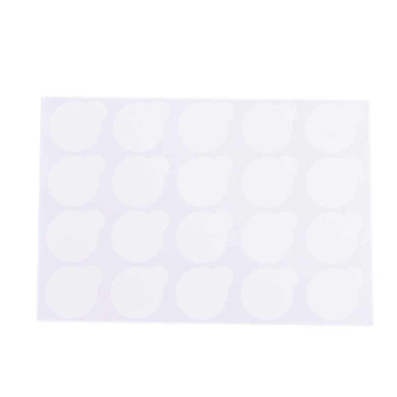 Makyaj aracı 200 adet tek kullanımlık kirpik yapıştırıcı tutucu palet kağıt kirpik uzatma tutkal pedleri Sticker yeşim taşı