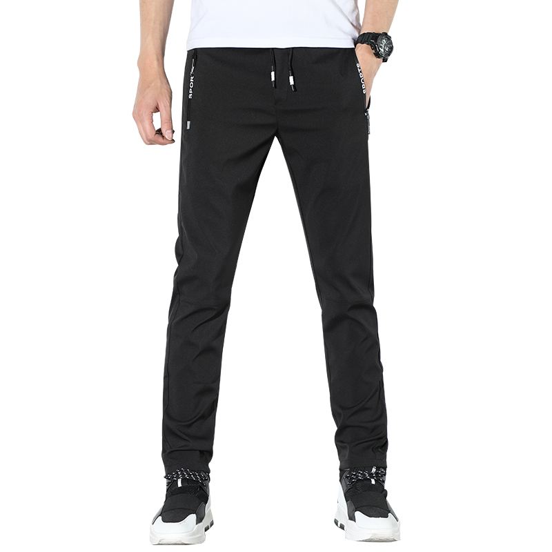 HCXY 2019 high quality Men's Casual Pants Men Spring Summer Trousers Male Pants Mens Elastic waist Waterproof Fast-drying 28-38