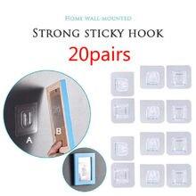 Ganchos de parede adesivos de dupla face cabide forte ganchos transparentes ventosa otário suporte de armazenamento de parede para cozinha bathroo