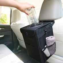 Waterproof and Leakproof Car Trash Can Auto Accessories Organizer Garbage Dump For Trash Bin Storage Pockets Closeable Portable