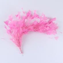 Beautiful Turkey Feathers Flower For Headdress Pink Feathers Decoration Carnival Corsage Accessories Feather Hairpins For Hair