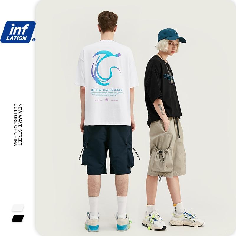 INFLATION Mens T Shirts Fashion 2020 Trending Cotton Funny T Shirts Men Tshirt Short Sleeve Men Tee Shirt Homme T-shirt 1025S20