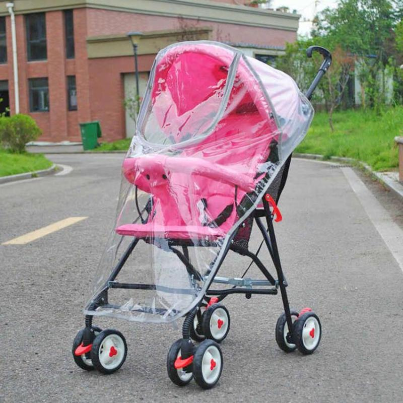 Stroller Accessories Transparent Rain Cover Fashionable Big Cart Zipper Raincoat Dust Shield Necessary Baby Outdoor Supplies
