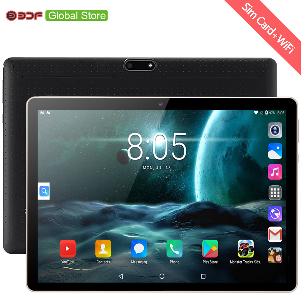 10 Inch 3G Mobile Phone Call SIM Card Tablets Pc Android 7.0 1GB+32GB Tablet Pc Built-in 3G WiFi GPS Bluetooth FM