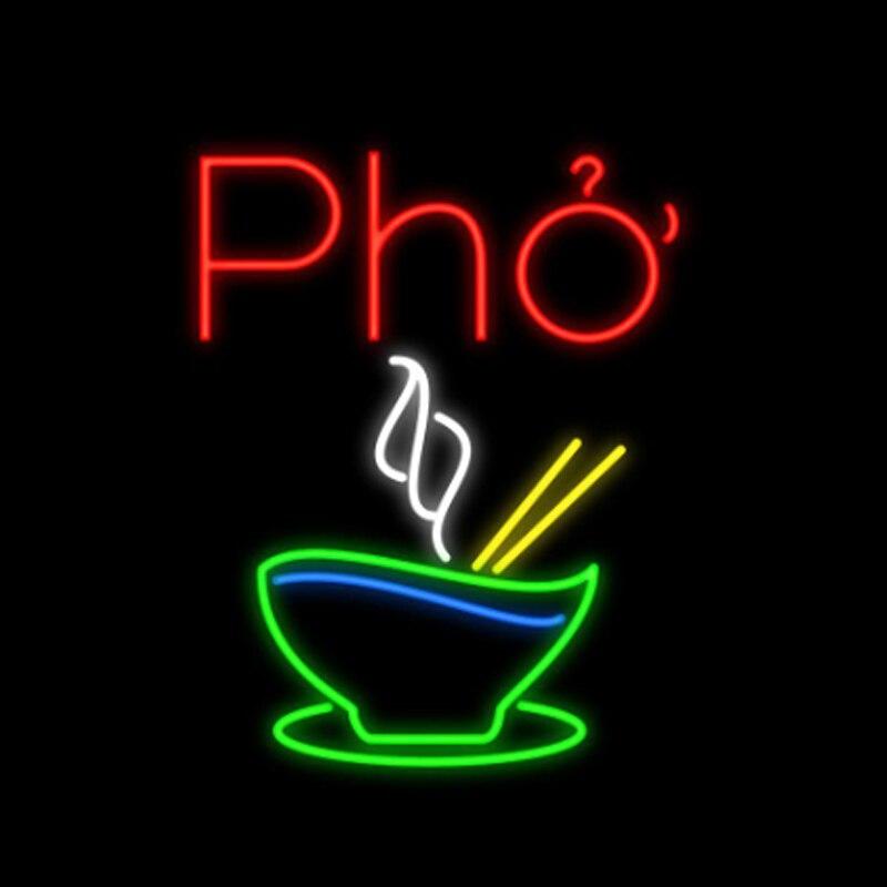 Pho magasin de fromage Restaurant nouilles de riz Vietnam alimentaire enseigne au néon à la main véritable Tube de verre décoration affichage enseignes au néon 14