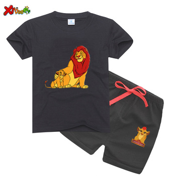 baby summer girls sets clothes Boys T-shits Children suit cool Summer sports Cartoon Clothing Set T-shit Pants Cotton
