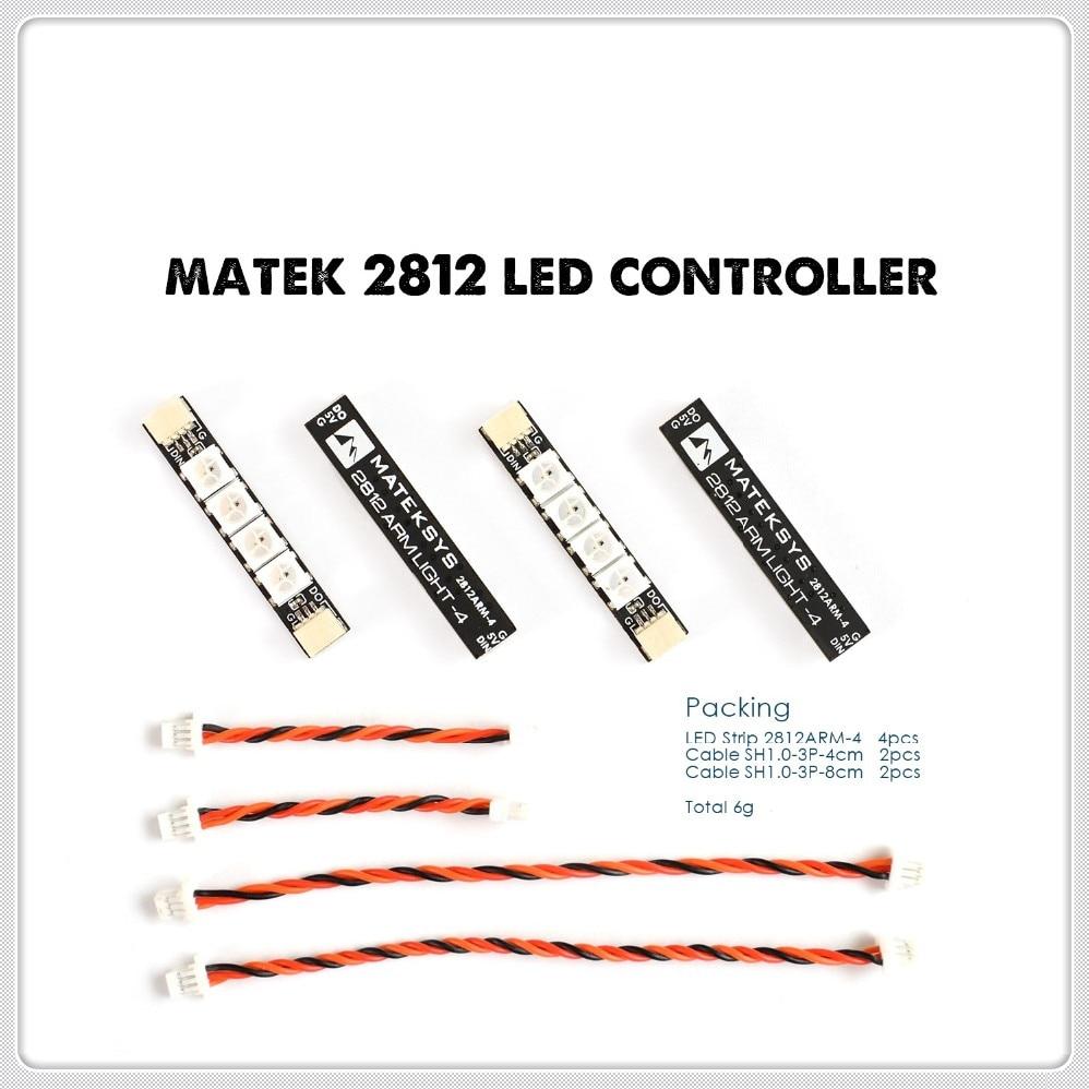 4 x Matek RGB ARM 4X + 6X + 2812 LED Controller