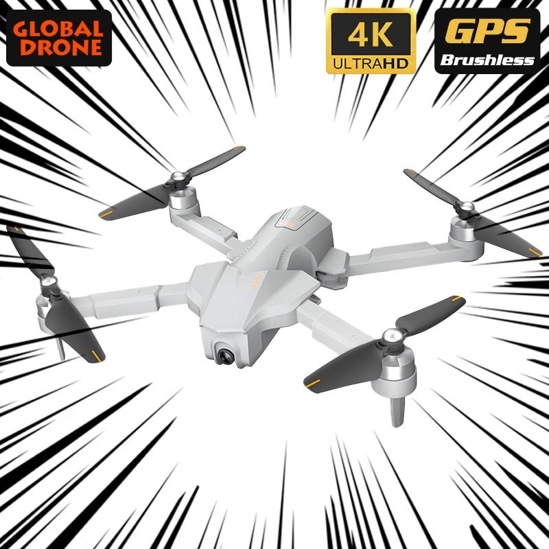 Dron 4K GPS Drone With Adjust Gimbal HD Camera Brushless Folding Quadcopter Follow Me RC Quadrocopter VS K1 K20 SG906 F11 Zino