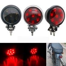LED אופנוע מתכוונן קפה רייסר סגנון להפסיק זנב אור אופנוע בלם אחורי מנורת טאיליט עבור Choppe XL 883 1200 VT750 VF75