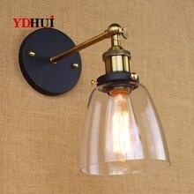 Lámpara de pared americana vintage de una sola cabeza pequeña protegida