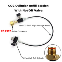 NEW Paintball PCP CO2 Mini Fill Station With No/OFF Valve And Hose For CGA 320 Connector