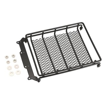 Metal Roof Rack Luggage Carrier with LED Spotlights Bar for 1/10 RC Car Off-road Crawler TAMIYA CC01 AXIAL SCX10 D90 image