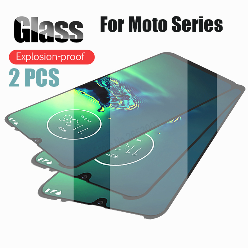 2 PCS Tempered Glass For Moto G8 G7 Plus One Zoom E6 E5 Plus Macro P30 Z3 Z2 Play Cover Screen Protector Glass For Motorola G8