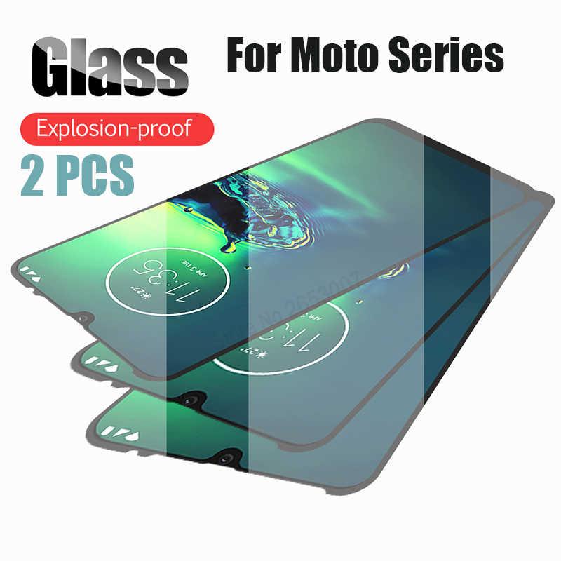 Bộ 2 Kính Cường Lực Cho Moto G8 G7 Cộng Một Zoom E6 E5 Plus Macro P30 Z3 Z2 Chơi Bao tấm Kính Bảo Vệ Màn Hình Cho Motorola G8