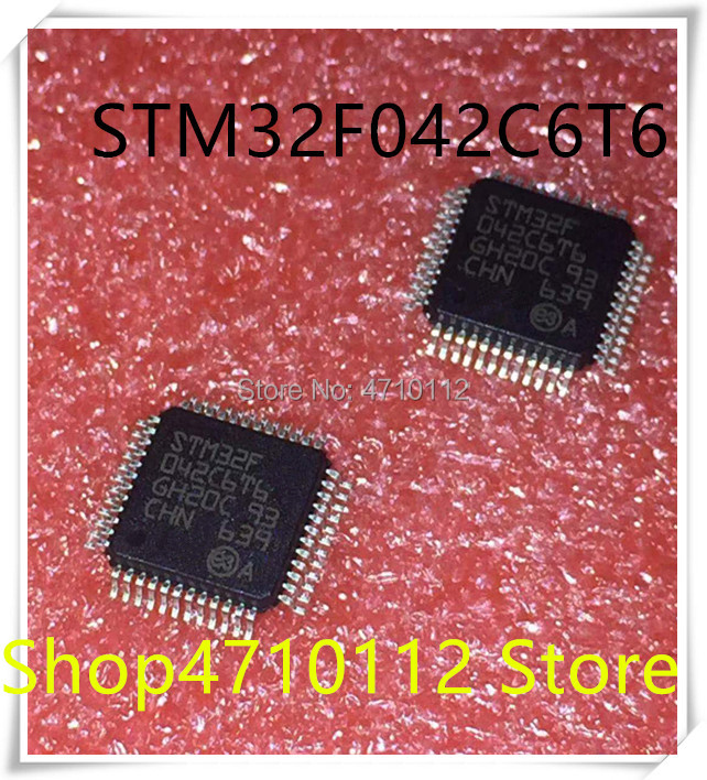 NEW 10PCS/LOT STM32F042C6T6 STM32F 042C6T6 LQFP-48 IC