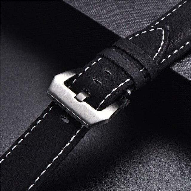Vintage Matte Leather Watchband 6