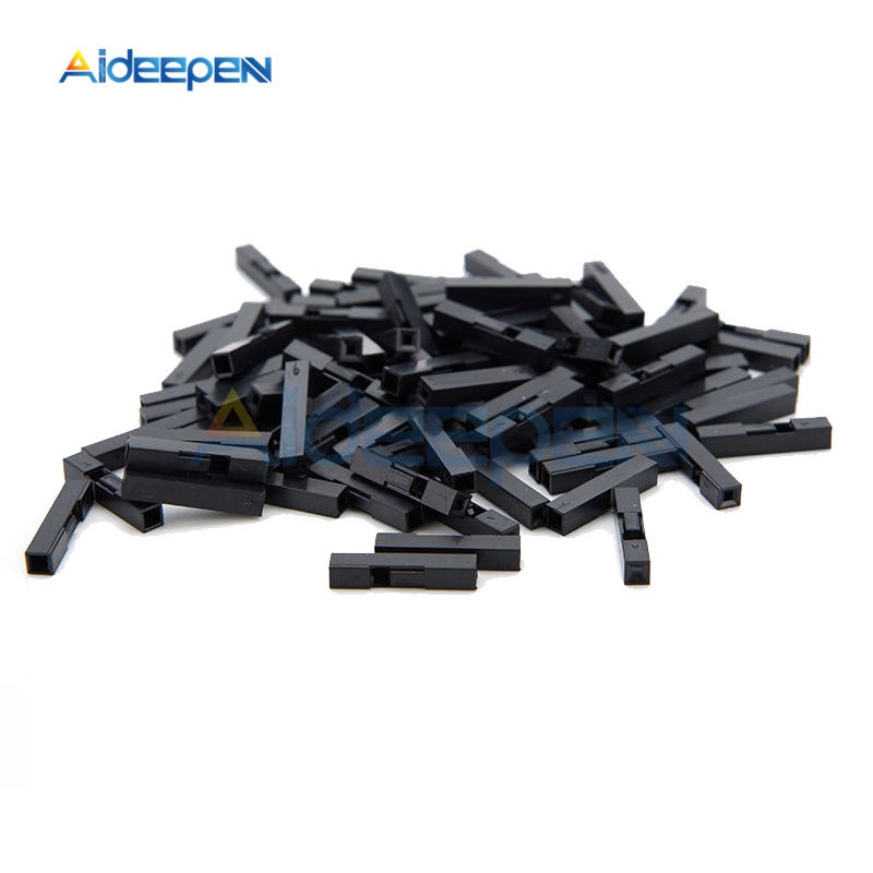 100Pcs 4P Dupont Jumper Wire Cable Housing Female Pin Connector 2.54mm Pitch FO