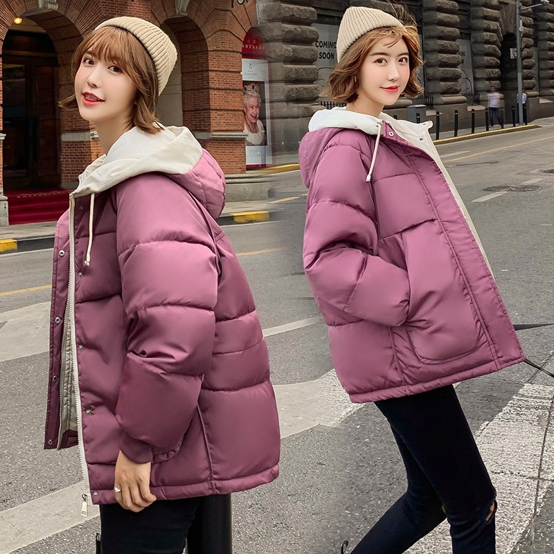 Kezrea Women's Hooded Loose Down Jacket 2019 Winter New Short Women's Padded Cotton Clothing
