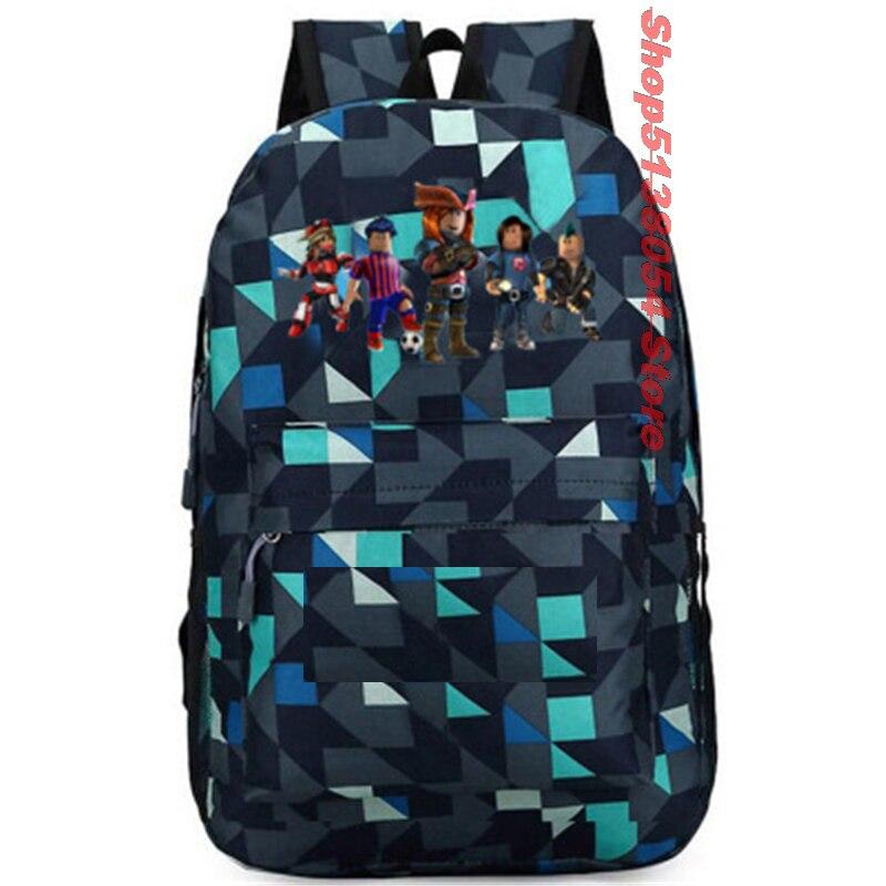 2019 Robloxer Backpack School Bag Women Bagpack Teenagers Schoolbags Canvas Student Backpack For Boy Girl Children Bag Kid