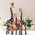 3 шт резьба по дереву креативные предметы домашней мебели Жираф деревянный жираф предметы интерьера украшения Рождество