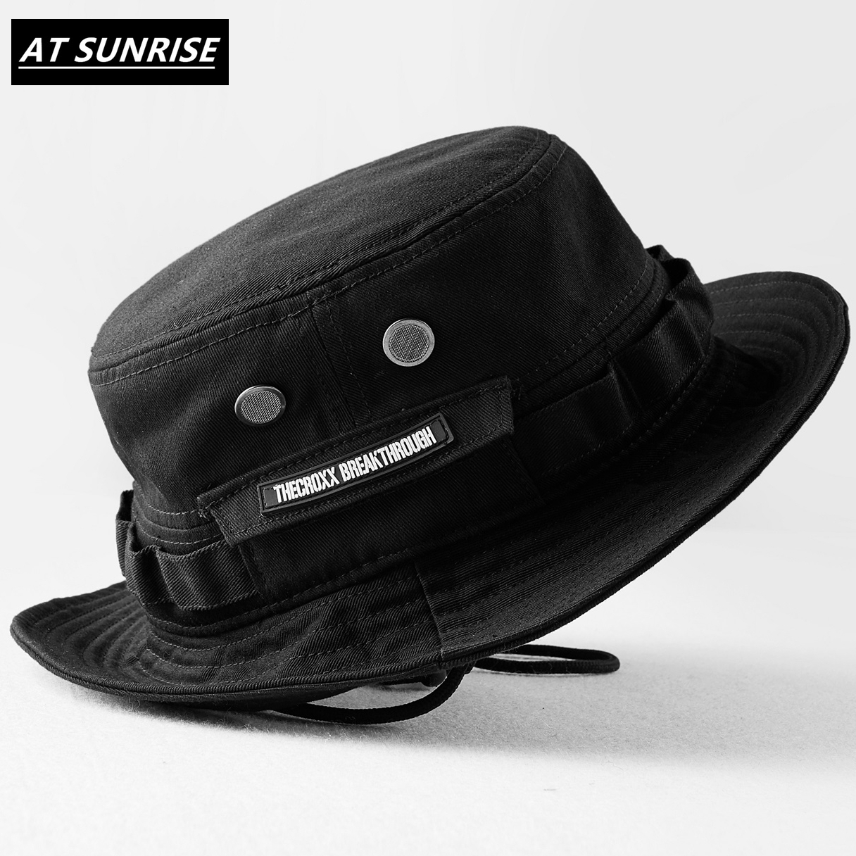 2020 New Brand Black Fisherman's Hat Bucket Hat Unisex Fashion Hip Hop Streetwear Men Women Warm Windproof Bucket Hat Outdoor