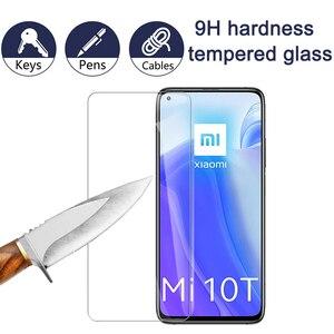 Image 2 - Tylna pokrywa z włókna szklanego 3w1 + szkło hartowane do obiektywu Xiaomi 10 T Pro 10 T Lite do obiektywu Xiaomi 10 t 10tlite