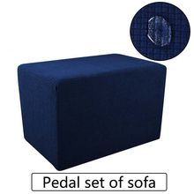 Spandex Bulu Ottoman Sofa Kursi Cover Home Furniture Case Debu-Bukti Footstool Cap Pijakan Kaki Mencakup(China)
