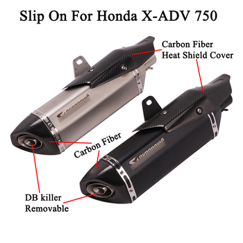 Full System For X-ADV750 X-ADV 750 ADV 750 2018 2019 Motorcycle Exhaust Escape Front Link Pipe Muffler Tube Header Slip On
