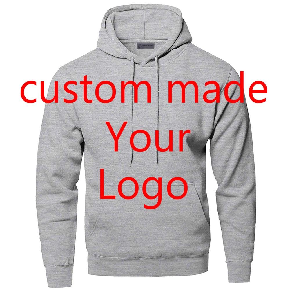 Custom Made Customize Your Logo Hoodies Sweatshirt Sportswear Streetwear Men