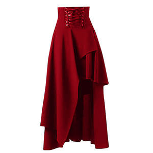 Punk Skirts Lace Long-Sleeve Medieval Ruffled Lolita Court Retro Autumn Winter Gothic
