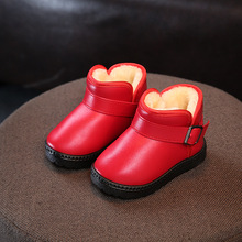 NEW 2019 Little Girls Pu Leather Boots Boys Shoes Leather Children Boots Fashion Toddler Kids Boots Warm Winter Boots Baby 1-10 все цены