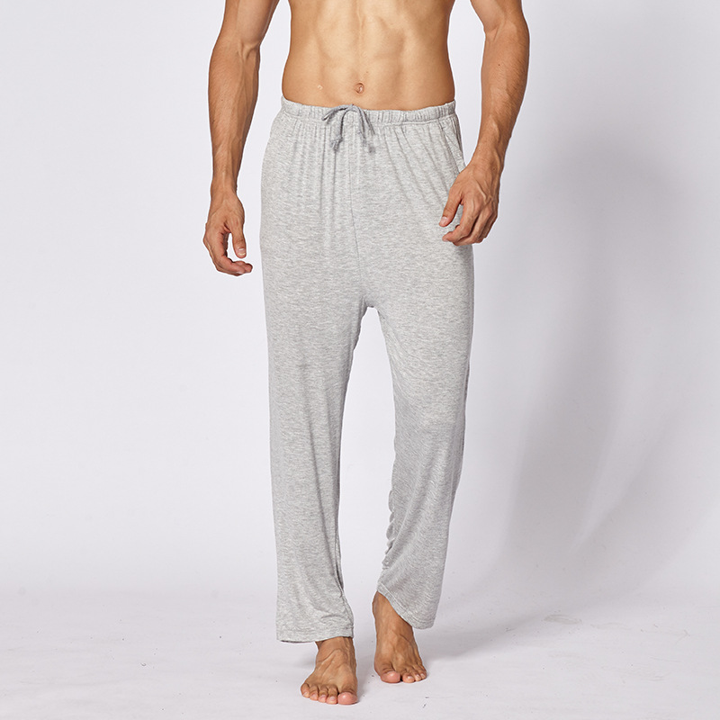Fanceey Home Pants Pajama Man Sleepwear Modal Cotton Pajamas for Men Trousers Yoga Fitness Home Wear Sleep Bottoms Plus Size