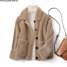 Winter Coat Women Lalambswool Regular And Autumn Mozuleva Full Female Girls