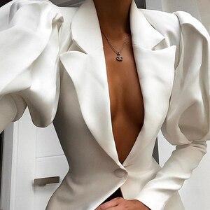Французский Ретро осенний Новый костюм с воротником и рукавами-фонариками на талии, тонкое белое универсальное платье