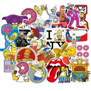 10/30/50PCS Simpsons Cartoon Graffiti Stickers Car Motorcycle Travel Luggage Guitar Skateboard for Kid Classic Toy Joke Stickers