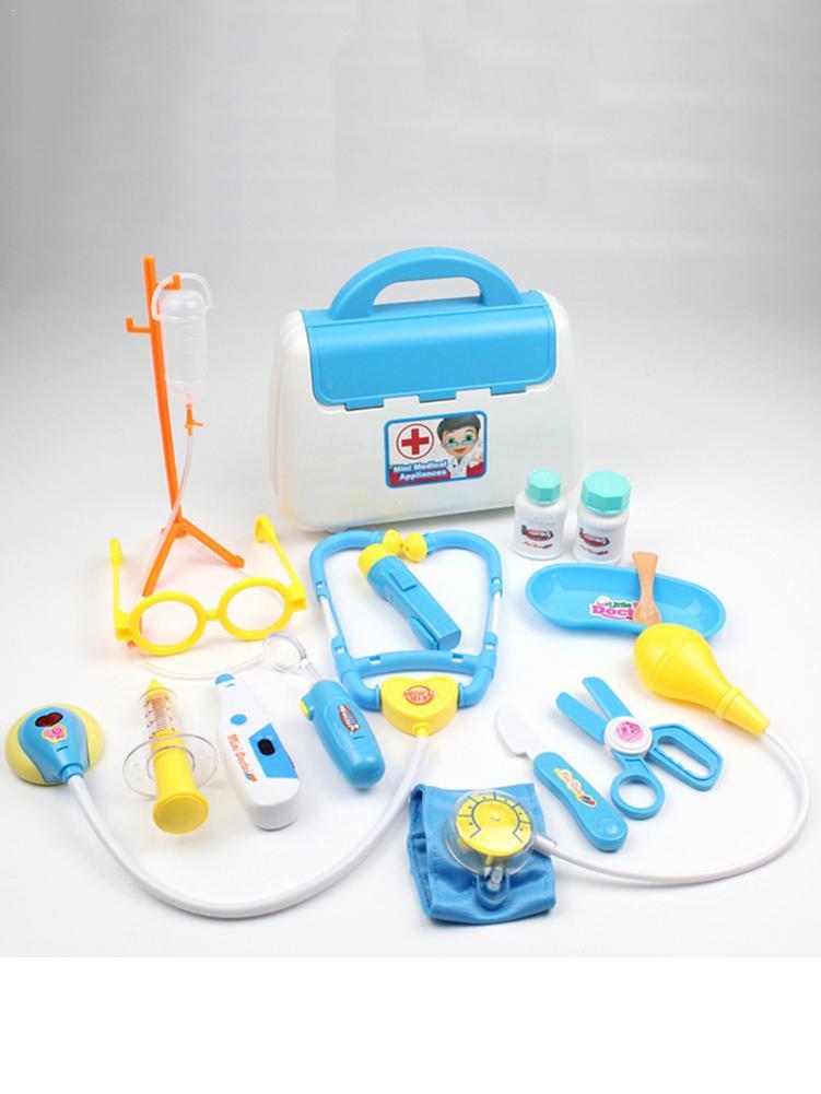 15Pcs/Set Children Pretend Play Doctor Nurse Toy Set Portable Suitcase Medical Kit Kids Educational Role Play Classic Toys