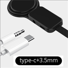 Type-C to Type C 3.5mm Aux Jack Charging Audio Adapter 2 In 1 Splitter for Samsung S10 Plus Huawei P30 Xiaomi Mi 8 6 5X